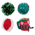 Whisker City® Holiday Cocoa Balls Cat Toys - 4 Pack
