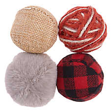 Whisker City® Holiday Yarn Ball Cat Toys - 4 Pack