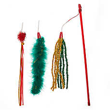 Whisker City® Holiday Tinsel Teaser Cat Toy - 3 Pack