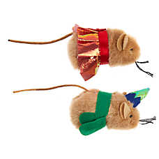 Whisker City® Holiday Mice Cat Toys - 2 Pack