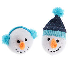 Pet Holiday™ Snowman Head Cat Toys - 2 Pack
