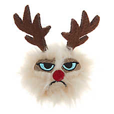 Grumpy Cat® Holiday Reindeer Ball Cat Toy