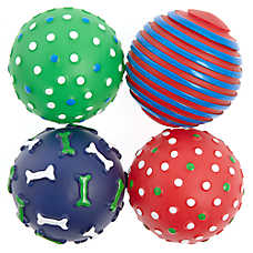 Top Paw® Holiday Ball Dog Toys - 4 Pack