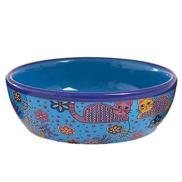 Whisker city ceramic cat bowl cat food water bowls for Petsmart fish bowl