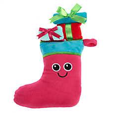 Pet Holiday™ Stocking Present Dog Toy - Plush, Squeaker