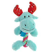 Pet Holiday™ Braided Belly Moose Dog Toy - Plush, Squeaker