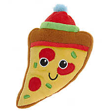 Pet Holiday™ Pizza Dog Toy - Plush, Squeaker