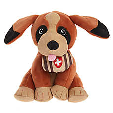 ED Ellen DeGeneres Holiday St. Bernard Dog Toy - Plush, Squeaker