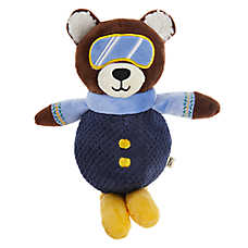 ED Ellen DeGeneres Holiday Skiing Bear Dog Toy - Plush, Squeaker