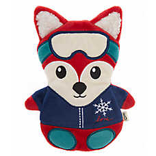 ED Ellen DeGeneres Holiday Skiing Fox Flattie Dog Toy - Crinkle