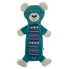 ED Ellen DeGeneres Holiday Bear Flattie Dog Toy - Crinkle