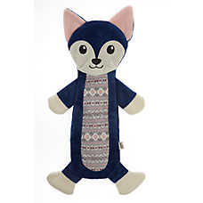 ED Ellen DeGeneres Holiday Wolf Flattie Dog Toy - Crinkle