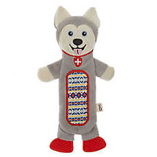 ED Ellen DeGeneres Holiday Husky Flattie Dog Toy - Crinkle