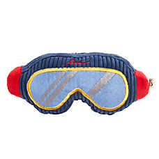ED Ellen DeGeneres Holiday Ski Goggles Dog Toy - Plush, Squeaker