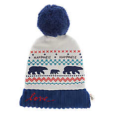 ED Ellen DeGeneres Holiday Knit Hat Flattie Dog Toy - Crinkle