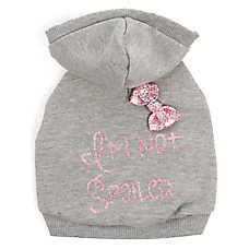 "Top Paw® ""I'm Not Spoiled"" Dog Hoodie"