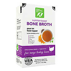 Only Natural Pet Nutrition Boost Bone Broth Pet Food Topper - Free Range Turkey