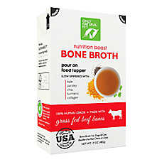 Only Natural Pet Nutrition Boost Bone Broth Pet Food Topper - Grass Fed Beef