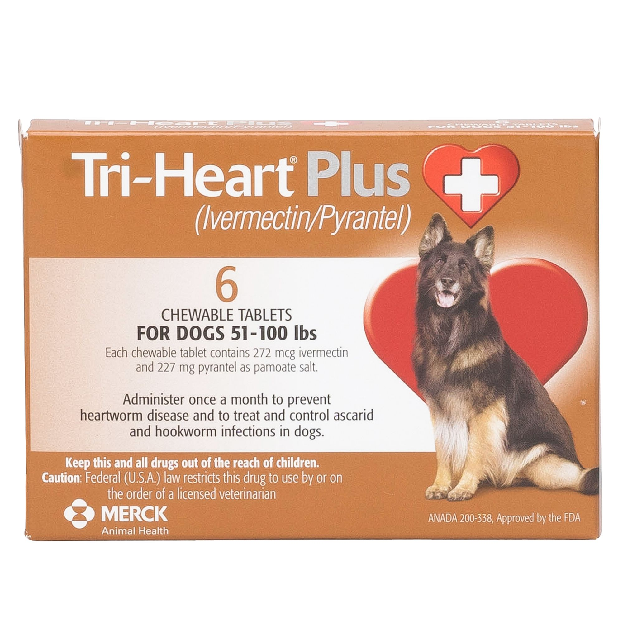 TriHeart Plus for Dogs 6 Pack dog RX Medication PetSmart
