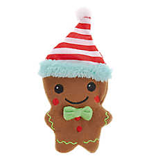 Pet Holiday™ Gingerbread Flattie Dog Toy - Crinkle