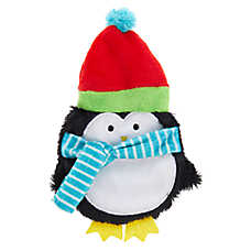 Pet Holiday™ Penguin Flattie Dog Toy - Crinkle