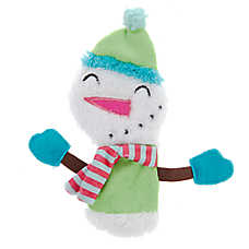 Pet Holiday™ Snowman Flattie Dog Toy - Crinkle