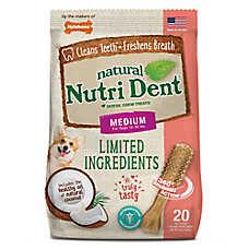 Nylabone® Nutri Dent Limited Ingredients Medium Dog Dental Chew - Natural, Coconut Flavor