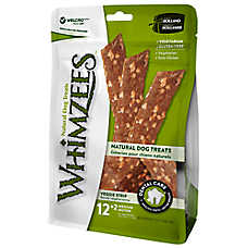 WHIMZEES Veggie Strip Medium Dental Dog Treat - Natural, Gluten Free