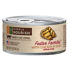 Simply Nourish™ Festive Favorites Adult Cat Food - Natural, Grain Free, Chicken in Gravy