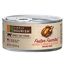 Simply Nourish™ Festive Favorites Adult Cat Food - Natural, Grain Free, Turkey in Gravy