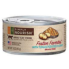 Simply Nourish™ Festive Favorites Adult Cat Food - Natural, Grain Free, Tuna & Potatoes in Gra