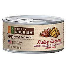 Simply Nourish™ Festive Favorites Adult Cat Food - Natural, Grain Free, Chicken & Duck in Grav