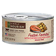 Simply Nourish™ Festive Favorites Adult Cat Food - Natural, Grain Free, Chicken & Salmon in Gr