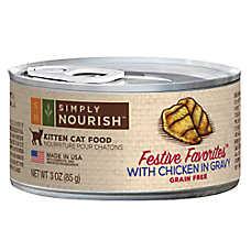 Simply Nourish™ Festive Favorites Kitten Food - Natural, Grain Free, Chicken in Gravy