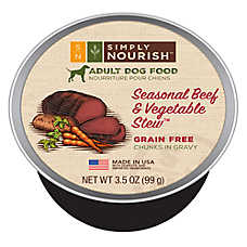 Simply Nourish™ Seasonal Beef & Vegetable Stew Adult Dog Food - Natural, Grain Free