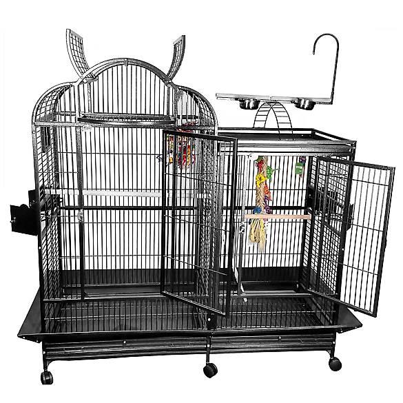Platinum Large Split Level House Bird Cage with Divider Color