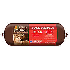 Simply Nourish™ SOURCE Dual Protein Adult Dog Food Roll - Natural, Grain Free, Beef & Lamb Rec