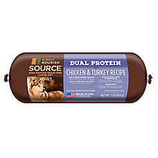 Simply Nourish™ SOURCE Dual Protein Adult Dog Food Roll - Natural, Grain Free, Chicken & Turke