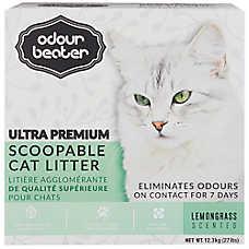 Odour Beater Ultra Premium Scoopable Cat Litter - Lemon Grass Scented