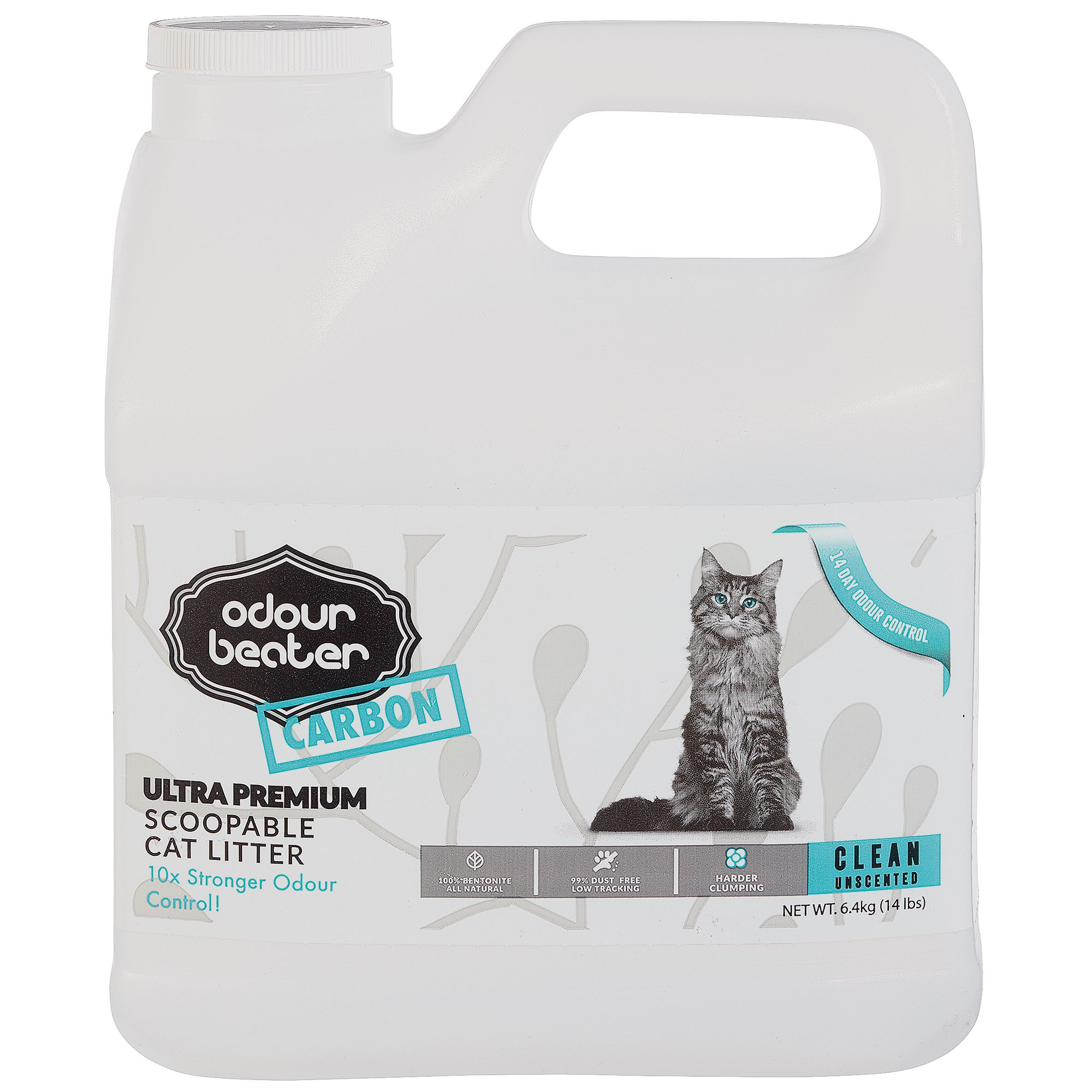 Odour Beater Carbon Cat Litter - Scoopable, Clean Unscented 12.3kg