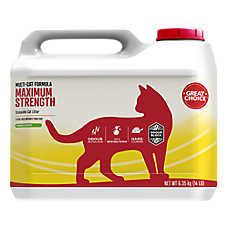Grreat Choice® Maximun Strength Scoopable Cat Litter - Multi-Cat, Fresh Scent