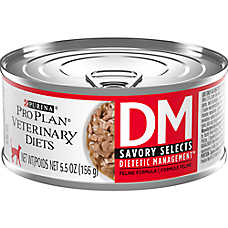 Purina® Pro Plan® Veterinary Diets DM Savory Selects Dietic Management Cat Food