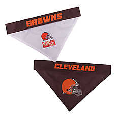 Pets First Cleveland Browns NFL Reversible Bandana