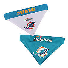 Pets First Miami Dolphins NFL Reversible Bandana
