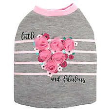 "Top Paw® ""Little & Fabulous"" Dog Tee"