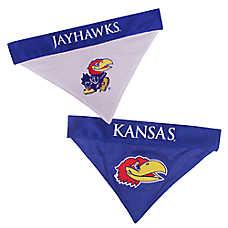Pets First Kansas Jayhawks NCAA Reversible Bandana