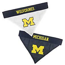 Pets First Michigan Wolverines NCAA Reversible Bandana