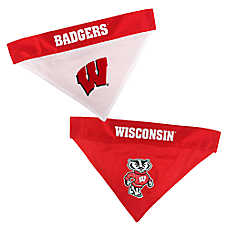 Pets First Wisconsin Badgers NCAA Reversible Bandana