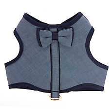 Top Paw® Chambray Bow Tie Vest Puppy Harness