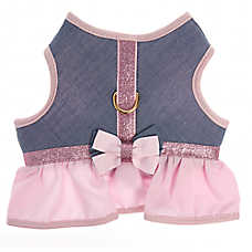 Top Paw® Chambray Skirt Vest Dog Harness